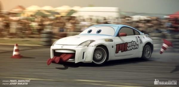 350Z – Cone Killer pixar